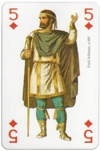 5 of diamonds Modiano deck Middle Ages