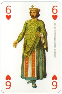 6 of hearts Modiano deck Middle Ages