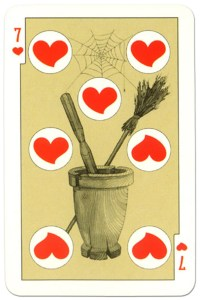 7 of hearts dark power Russian fairy tale cards