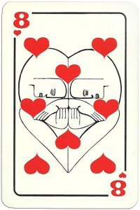 8 of hearts Modernist artistic style cards from Russia