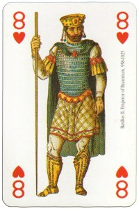 8 of hearts Modiano deck Middle Ages
