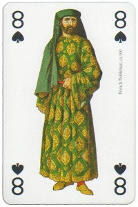 8 of spades Modiano deck Middle Ages