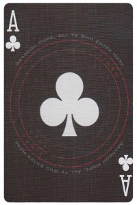 #PlayingCardsTop1000 – Ace of clubs card from Inferno by Gustave Dore deck Bycycle