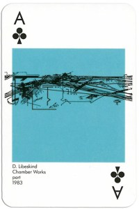 Ace of clubs from deck Play Architecture Finnish Building Centre Rakennustieto Oy