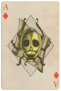#PlayingCardsTop1000 – Ace of diamonds Edgar Allan Poe deck of playing cards by Bicycle