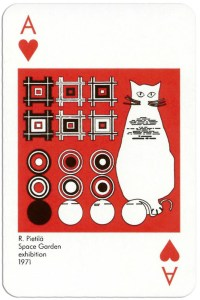 Ace of hearts from deck Play Architecture Finnish Building Centre Rakennustieto Oy