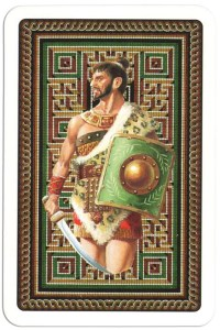 #PlayingCardsTop1000 – Back from Gladiators deck designed by Severino Baraldi