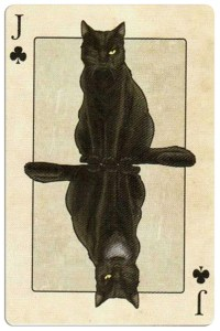 Jack of clubs Edgar Allan Poe deck of playing cards by Bicycle