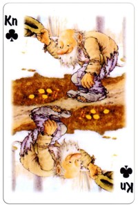 Jack of clubs Trolls cartoons playing cards by Rolf Lidberg