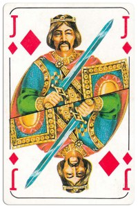 Jack of diamonds Bulgarian Dunav bridge cards