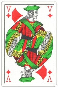 "#PlayingCardsTop1000 – Jack of diamonds Classic Belgian cards<span class=""rmp-archive-results""><i class=""star-highlight fa fa-star fa-fw""></i><i class=""star-highlight fa fa-star fa-fw""></i><i class=""star-highlight fa fa-star fa-fw""></i><i class=""star-highlight fa fa-star fa-fw""></i><i class=""star-highlight fa fa-star fa-fw""></i> <span>5 (1)</span></span>"