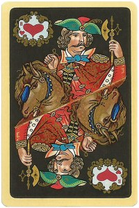 Jack of hearts Chernyi Paleh Russian style black cards