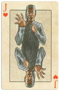 #PlayingCardsTop1000 – Jack of hearts Edgar Allan Poe deck of playing cards by Bicycle