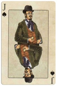Jack of spades Edgar Allan Poe deck of playing cards by Bicycle
