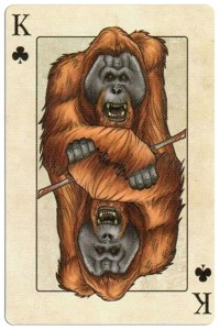 King of clubs Edgar Allan Poe deck of playing cards by Bicycle