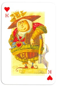 #PlayingCardsTop1000 – King of hearts Contemprary art cards made for Zeldis