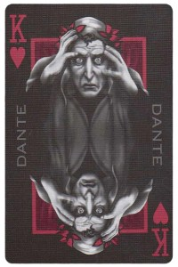 #PlayingCardsTop1000 – King of hearts card from Inferno by Gustave Dore deck Bycycle