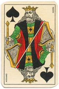 #PlayingCardsTop1000 – King of spades Carte da gioco Genovesi