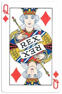 Queen of diamonds Carnival of New Orleans deck
