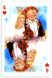 Queen of hearts Trolls cartoons playing cards by Rolf Lidberg