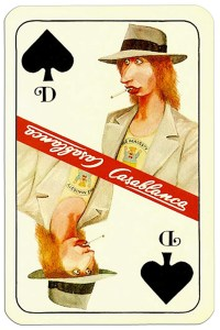 Queen of spades Casablanca tobacco brand cards