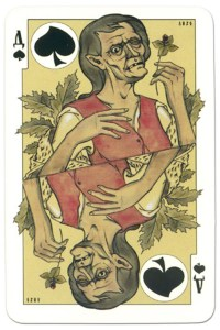 Queen of spades dark power Russian fairy tale cards