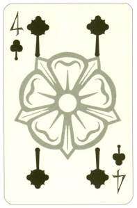 Wars of roses playing card 4 of clubs