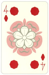 Wars of roses playing card 4 of diamonds