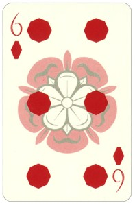 Wars of roses playing card 6 of diamonds