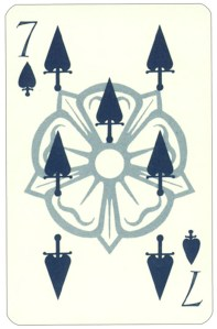 Wars of roses playing card 7 of spades
