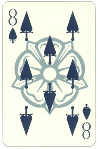 Wars of roses playing card 8 of spades