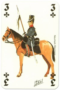 cavalry 3 of clubs Waterloo battle playing cards