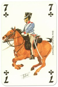 cavalry 7 of clubs Waterloo battle playing cards