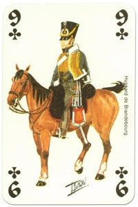cavalry 9 of clubs Waterloo battle playing cards