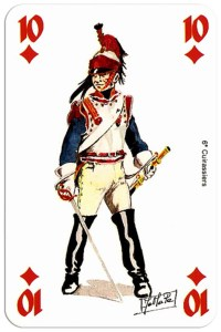 #PlayingCardsTop1000 – infantry 10 of diamonds Deck Waterloo battle