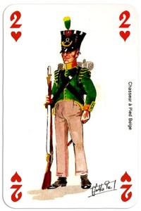 #PlayingCardsTop1000 – infantry 2 of hearts Deck Waterloo battle
