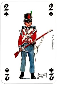 #PlayingCardsTop1000 – infantry 2 of spades Deck Waterloo battle