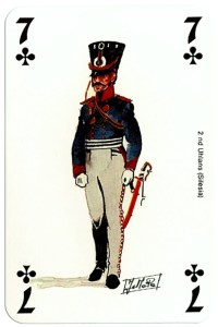 #PlayingCardsTop1000 – infantry 7 of clubs Deck Waterloo battle
