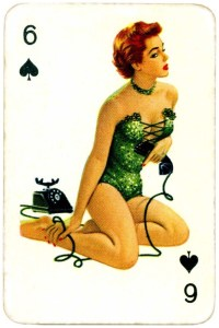Dandy Pin up Bubble Gum advertisement cards 1956 Six of spades 09