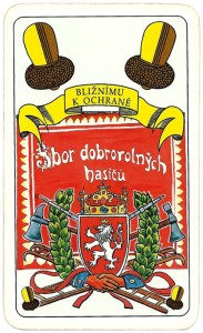 Hasičské Fire fighters cards from Czechia Ober of clubs 05