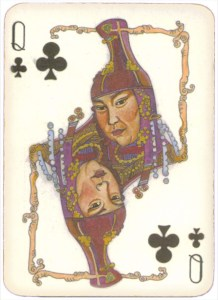 Mongolian National Economical Bank lovely graphic design Queen of clubs 13
