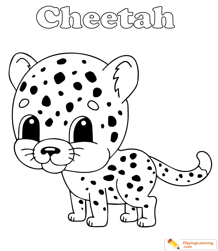 Cheetah Coloring Page 12 Free Cheetah Coloring Page