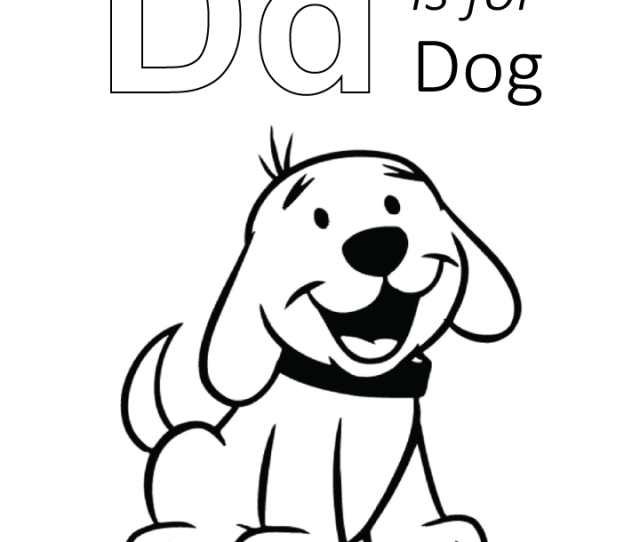D Is For Dog Coloring Page Free D Is For Dog Coloring Page