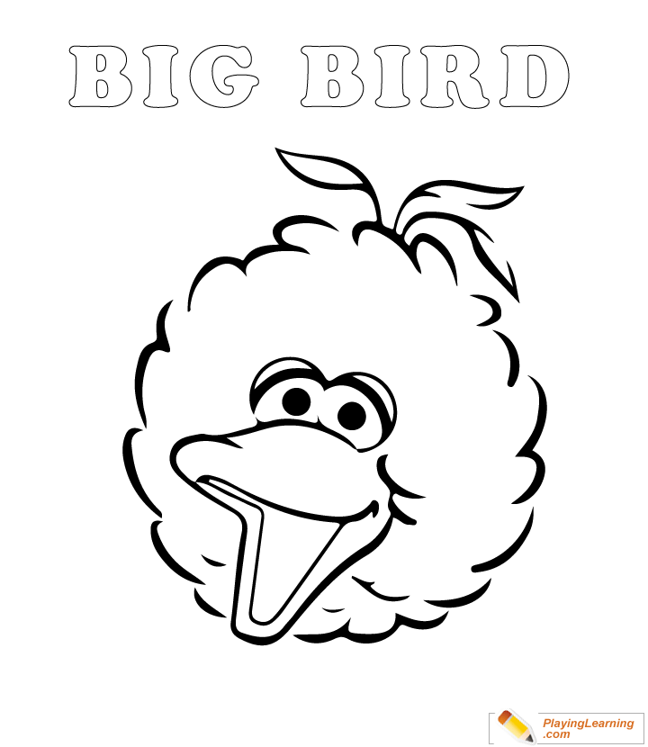 easy sesame street coloring page 04  free easy sesame