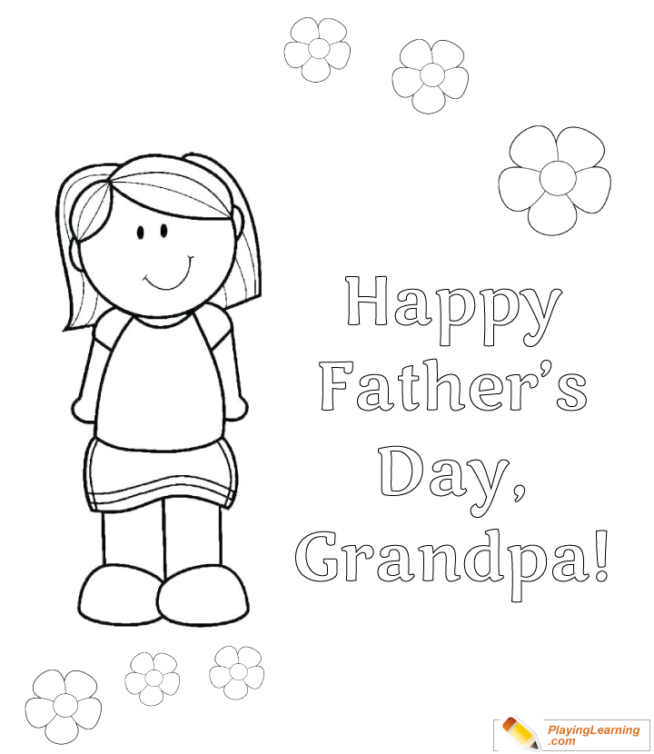 Happy Fathers Day Grandpa Coloring Page 05 Free Happy Fathers Day Grandpa Coloring Page