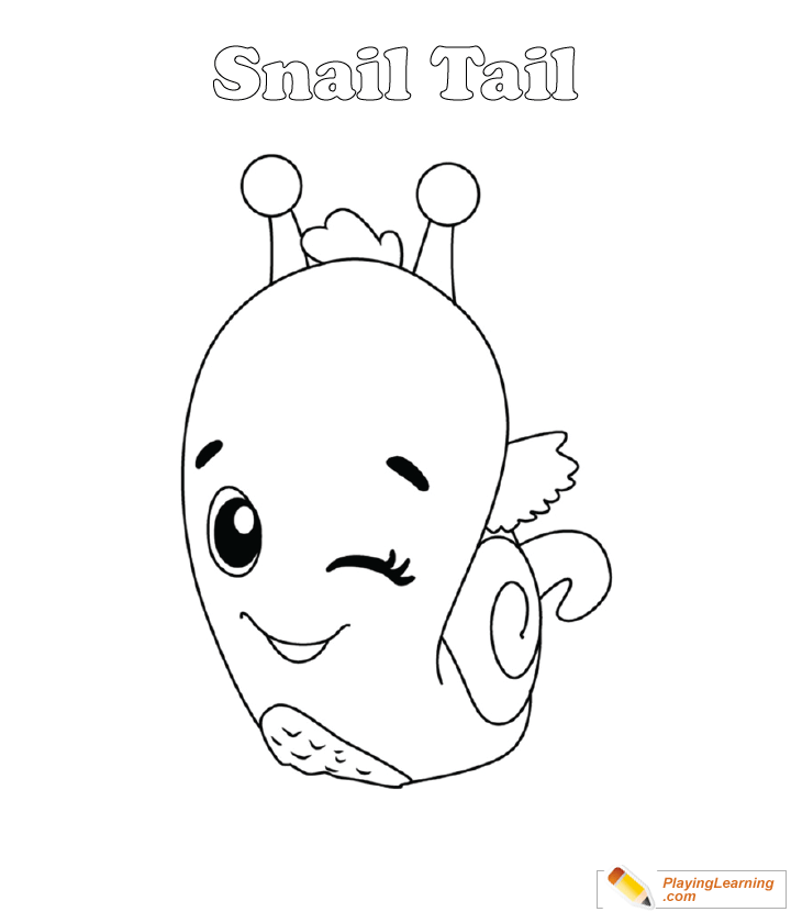 Hatchimals Coloring Page 22 Snail Tail Free Hatchimals Coloring Page Snail Tail