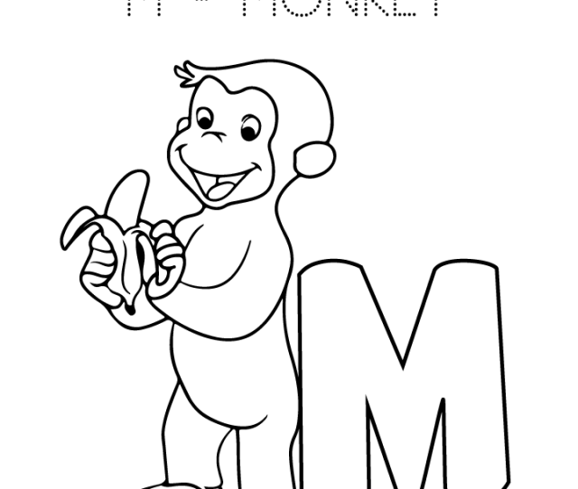 M Is For Monkey Coloring Page Free M Is For Monkey Coloring Page