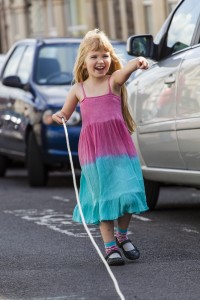 Holding-one-end-skipping-rope