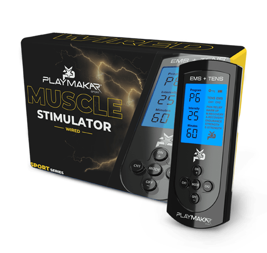 Wired Muscle Stimulator TENS + EMS for recovery by PlayMakar
