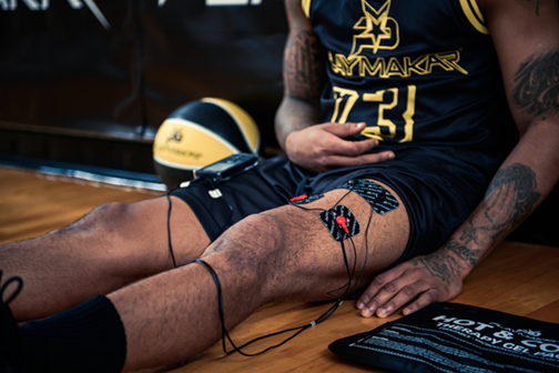 Trey Burke using PRO-500 Muscle Stimulator by PlayMakar